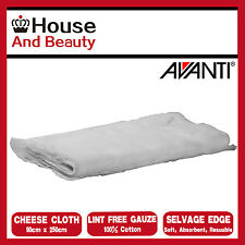 NEW Avanti Cheese Cloth 250cm x 90cm, 100% Cotton, Lint Free, 12684