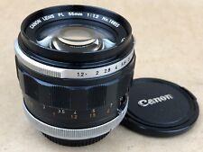 Canon FL 55mm F/1.2 Breech Lock Mount Manual Focus Lens - Nice Glass