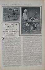 1902 PRINT INDIAN EMPIRE ARTICLES NEWS SNIPPETS CAMEL GUN SYLVAN WAY