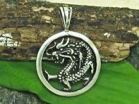 Dragón Plata 925 Amuleto Colgante Dragón Dragón Amuleto de la Suerte