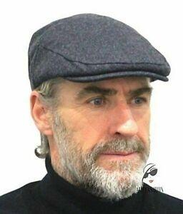 Mens Flat Cap CHEAP Felt Wool Traditional Plain  Colours Black,Grey,Blue,Green