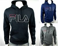FILA Men's Classic Logo Fleece Pullover Hoodie Sweatshirt/Top