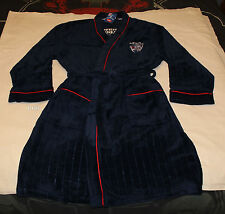 Western Bulldogs AFL Mens Navy Blue Fleece Dressing Gown Robe One Size New