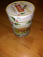 "Vintage Lambertz Musical Tin Box Christmas 1999 Germany 5 1/2"" Cookie Canister"