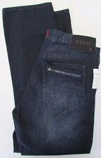 NWT Guess Jeans Del Mar Fit Lacon Slim Straight Dark Wash Size W 33 x L 30