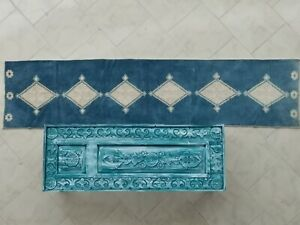 blue vintage turkish runner oushak runner antique runner turkey runner handmade
