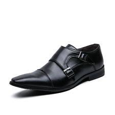 Vestido de boda para Hombre Oxfords Trabajo Puntera Puntiaguda Hebilla Zapatos De Negocios Formal 38-48 D