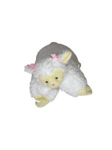 Super Soft Fluffy White Lamb Kids Cushion Large Has fuzz Pillow 11X9 Inch