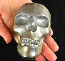 GEMCORE: One(1) Lg Bismuth Skull Geode Specimen Rainbow Crystal Healing Wicca