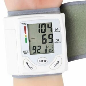 Automatic Digital LCD Display Wrist Blood Pressure Monitor Device Heart Beat