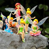 6pcs Flower Pixie Fairy Miniature Figurine Doll Garden Decoration in Colorful