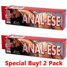 Anal-Ese Cherry Lubricant Desensitizing Numbing Anal-Sex Lube 1.5 oz -  2 PACK