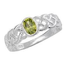Gioielli di lusso verdi peridoto argento sterling