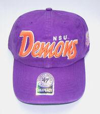 NORTHWESTERN STATE NSU DEMONS 47 Brand Relaxed Fit Snapback Baseball Hat Cap NWT