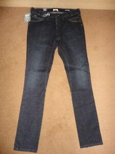 BNWT QSD Quiksilver Ladies Jeans Size W26 L32 Skinny Leg Boyfriend Deep Indigo