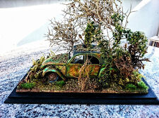 Citroen 2CV Custom Build Junk Yard Diorama, Scale model 1/24