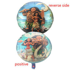 "18"" Moana Maui round figure foil balloon kids birthday party decoration."