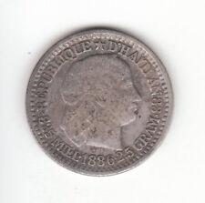 1886 Haiti 0.835 Silver 10 Centimes KM#44.