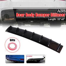 "33"" x 6"" Universal Rear Bumper Lip Diffuser Shark 7 Fin Gloss Black ABS"