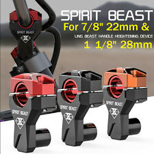 "Aluminum 7/8"" 22mm Motorcycle 1 1/8"" HandleBar Handle CNC Bar Mount Clamps Riser"