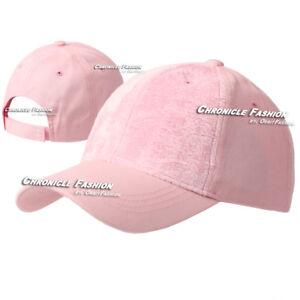 Baseball Cap Hat Blank Plain Solid Fur Front Adjustable Curved Visor Men Women