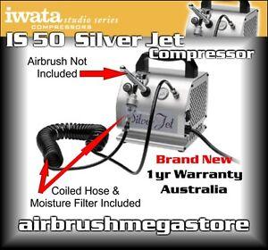 Iwata Silverjet Air Compressor IS.50F + Moisture Filter + Free Insured Post