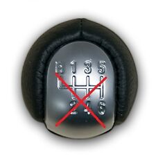 FOR VAUXHALL OPEL VECTRA C SIGNUM 02-05 BLACK LEATHER COVER ONLY FOR GEAR KNOB