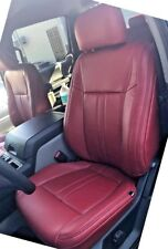 2019 19 Ford F-150 XLT SuperCrew KATZKIN Leather Seat Covers Kit Cardinal Red