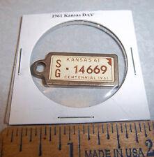 1961 Kansas #14669 DAV Mini License Plate keychain Disabled American Vet
