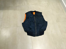 "alpha ma1 ""vest"" new old stock, made in usa , 1991,reversible, XL,blue"