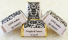120 DAMASK PATTERN Personalized Candy labels/wrappers/stickers for wedding/party