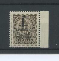 RSI E LUOGOTENENZA 1944 R.A. (N.3A) 2 ** LUSSO CERT.
