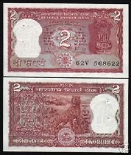 INDIA 2 RUPEES P53A 1985 BUNDLE Lot TIGER UNC RNM ANIMAL PACK X 100 Pcs BANKNOTE