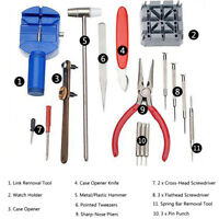 16 Pieces Watch Repair Tool Kit Set Pin Strap Remover Battery Replacement Opener