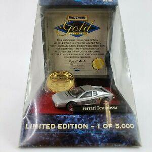 Matchbox Gold Collection Ferrari Testarossa Limited Edition 1 of 5000 Rare NEW