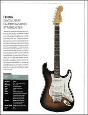 "Dave Murray Signature Fender Stratocaster guitar article with specs 8x11"" print"