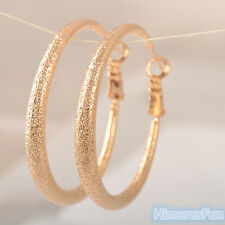 Gold Filled 14K Hoop Earrings Womens Big Large Circle Round Jewelry Gifts