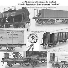 Extraits catalog. wagons marchand. Ateliers Métallurgiques 1910 future SNCB NMBS