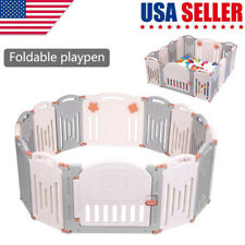 Baby Playpen 14 Panel Kids Safety Play Center Yard Home Indoor Outdoor Fence Us