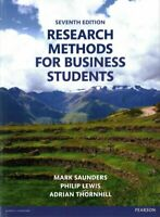 Research Methods for Business Students, Paperback by Saunders, Mark; Lewis, P...