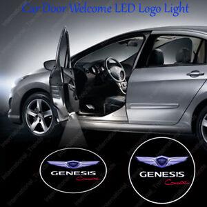 2x GENESIS Wings Ghost Shadow Car Door LED Projector Lights for Genesis Coupe