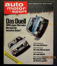 AMS 20/76 Golf D,Audi 80,Alfasud Sprint,Kawasaki Z 650,Kawasaki Z 1000,Bremssyst