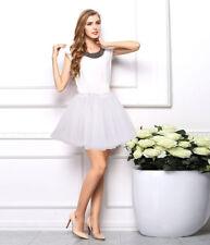 Women Adult Dancewear Tulle Tutu Mini Ballet Pettiskirt Princess Party Tee Skirt
