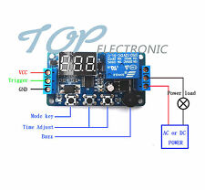 5PCS 12V Programmable timer relay module Delay Timer Control Switch with LED