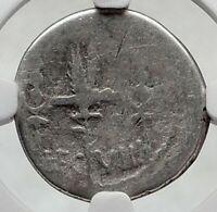 MARK ANTONY Cleopatra Love 32BC Ancient Silver Roman Coin LEGION VIII NGC i80515