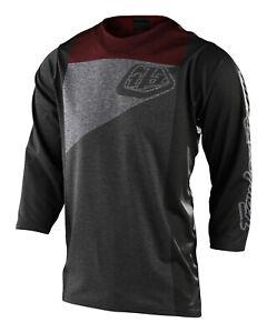 Troy Lee Designs MTB Men's Ruckus Jersey 3/4 Sleeve - Gray / Brick