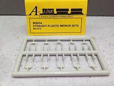 HO 1/87 A-Line # 50034 Straight Plastic Mirror Sets (set of 6)