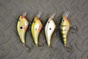 fishing lures crankbaits Rapala DT Flat 3  4 total