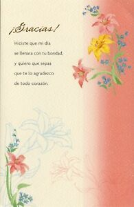 American Greetings Spanish Thank You Card: You Made My Day With Your Kindness