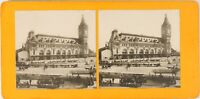 FRANCE Paris La Gare de Lyon, Photo Stereo Vintage Argentique ca 1900